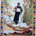 Glorificación de San Martín de Porrasdel artista italiano Fausto Contiencargada por el papa Juan XXIII para la canonización en San Pedro de Roma. Se encuentra actualmente en la basílica del Santísimo Rosario, en el Convento de Santo Domingo de Lima.