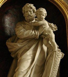 Estatua de San José por los hermanos Duthoit (siglo XIX). Capilla de San José(1832), Catedral de Notre Dame de Amiens.