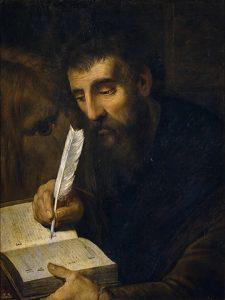 San Marcos Evangelista, óleo sobre tela de Artus Wolffort (siglo XVII)