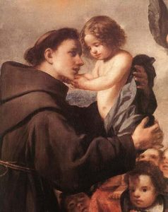 San Antonio de Padua con el Niño Jesús, por Antonio de Pereda.