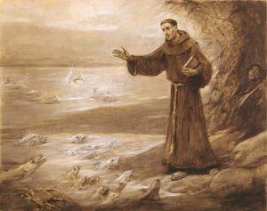 San Antonio de Padua predicando a los peces, obra de José Benlliure.