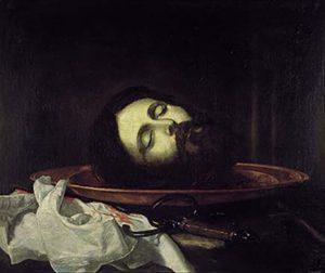 Cabeza de san Juan Bautista. José de Ribera. 1644. Real Academia de Bellas Artes de San Fernando. Madrid.