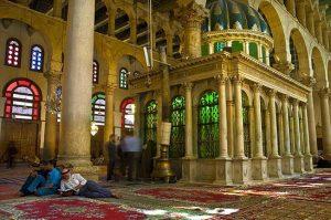 Capilla de Juan el Bautista en la mezquita de los Omeyas de Damasco.