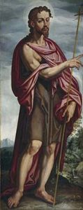 San Juan Bautista, por Francisco Pacheco, 1608. Museo del Prado.