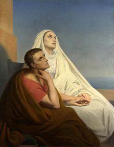 San Agustín y Santa Mónica (1846), por Ary Scheffer.