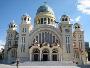 Catedral de San Andrés Apóstol en Patras (Grecia). En esta ciudad el Apóstol murió martirizado y se encuentran parte de sus reliquias.