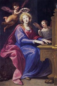 Santa Cecilia tocando el órgano, cuadro de Matteo Rosselli (1620).