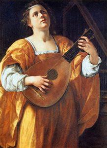 Santa Cecilia tocando el laúd (c. 1616), óleo sobre tela de Artemisia Gentileschi. Se conserva en la Galería Spada (Roma).