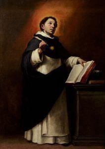 Santo Tomás de Aquino (1650), de Murillo. Óleo sobre lienzo. 96x68 cm.