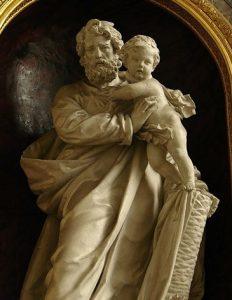 Estatua de San José por los hermanos Duthoit (siglo XIX). Capilla de San José (1832), Catedral de Notre Dame de Amiens.