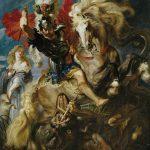 Lucha de san Jorge y el dragón 1606 - 1608. RUBENS.