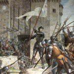 Juana de Arco comandando el asedio de Orleans por Jules Eugène Lenepveu.
