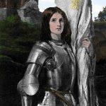 Retrato hagiográfico de Juana de Arco.