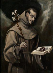 """""""San Antonio de Padua"""", El Greco, h.1580."""