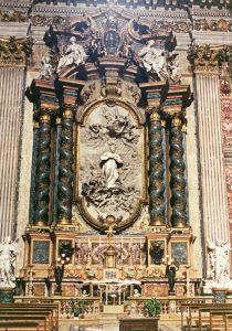 Altar de San Luis Gonzaga en la iglesia de San Ignacio (Roma), por el escultor Pierre Legros el joven (1697-1699).