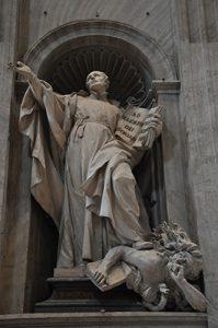 Escultura que representa a Ignacio de Loyola, ubicada en la Ciudad del Vaticano.