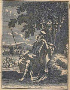 Ilustración que representa a santo Tomás en la India