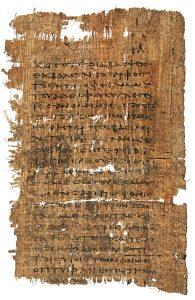 Apócrifo Evangelio de Tomás.  En los primeros siglos de la era cristiana circularon varios escritos que se presentaban a sí mismos como redactados por el apóstol Tomás.