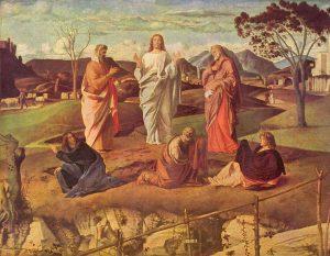 La Transfiguración. Giovanni Bellini, 1480.
