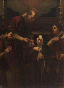 Comunión de Santa Teresa Óleo sobre lienzo. Siglo XVII ANÓNIMO
