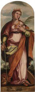 Santa Catalina, por Francisco Pacheco (1608, Museo del Prado).