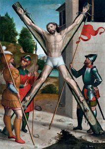 Crucifixión de san Andrés, por Juan Correa de Vivar, 1540-1545.