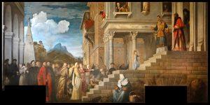 Tiziano, Albergo de la Scuola della Carita (hoy Academia de Venecia), ca. 1534-1539.