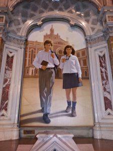 Representación de Domingo Savio y Laura Vicuña, en la Basílica María Auxiliadora y San Carlos de Buenos Aires.